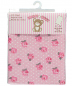 Honey Baby Fitted Crib Sheet - pink, one size