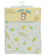 Honey Baby Fitted Crib Sheet - white, one size