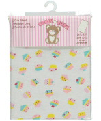 Honey Baby Fitted Crib Sheet - white/yellow, one size