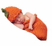 M & G House Fashion Newborn Baby Photo Photography Prop Handmade Crochet Knitted Halloween Pumpkins Outfit Hat Sleeping Bag