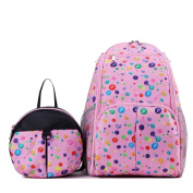FEELING WELL Large Capacity Parent-Child Nappy Bag Backpack with Multi Pockets Two in One