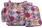 BETTY BOOP 3pc nappy BAG SET in PINK