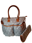 Nappy Bag by Danha - Plus Matching Baby Changing Pad -