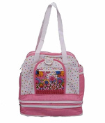 Kuber Industries Baby Nappy Bag Pink Baby Print