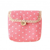 Baost Lady's Cotton Nappy Storage Sanitary Napkin Bag- Pink