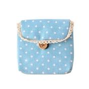 Baost Lady's Cotton Nappy Storage Organiser Sanitary Napkin Bag - Blue