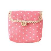 Baost Lady's Cotton Nappy Storage Organiser Sanitary Napkin Bag - Pink