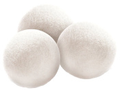 Wool Dryer Balls 3 Pack XL Made of 100% Premium, Organic Wool, Handmade, All Natural Eco-Friendly Fabric Softener