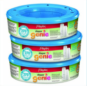 Playtex Nappy Baby Care cassettes nappy Genie Refill 270 count 3x Total of 810