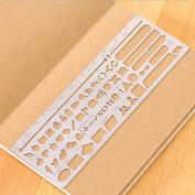 Web UI Template,JoyTong Multifunctional Portable Drawing Stainless Steel StencilSize 18cm ×6.2cm
