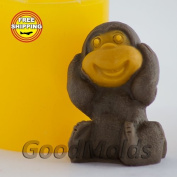 Soap Mould Monkey 6 3D Food-grade Silicone Moulds animal Mould Mould for Soap.