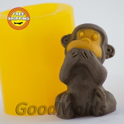 Soap Mould Monkey 5 3D Food-grade Silicone Moulds animal Mould Mould for Soap.