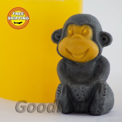 Soap Mould Monkey 4 3D Food-grade Silicone Moulds animal Mould Mould for Soap.