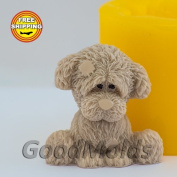 Soap Mould Sad dog Food-grade Silicone Moulds animal Mould Mould for Soap.