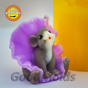 Soap Mould Mouse in a skirt Food-grade Silicone Moulds animal Mould Mould for Soap.