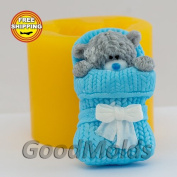 Soap Mould Teddy newborn Food-grade Silicone Moulds animal Mould Mould for Soap.
