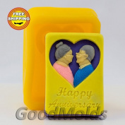 Soap Mould Happy Anniversary Food-grade Silicone Moulds Mould for Soap.