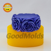 Soap Mould Cylinder with roses Food-grade Silicone Moulds animal Mould Mould for Soap.