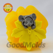 Soap Mould Mouse with leaf Food-grade Silicone Moulds animal Mould Mould for Soap.