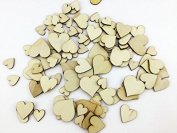 100 pcs IFfree Mixed Size Pure Colour Small Round Heart Shaped Unfinished Crafting Sewing DIY