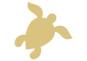 Sea Turtle Style 3 Unfinished MDF Wood Cutout Variety of Sizes USA Made Nautical Decor