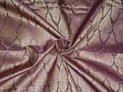BROCADE FABRIC AUBERGINE & GOLD colour - Hobbies,Home decor,Sewing,Fashion,Doll Dress,Furnishing,Interior.