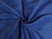 SILK BROCADE 110cm INCHES ROYAL BLUE X BLUE - Hobbies,Home decor,Sewing,Fashion,Doll Dress,Furnishing,Interior.