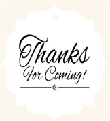 Thank You For Coming Printed Gift Tags 5.1cm x 5.1cm - 24pack