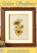 Golden Sunflowers - Rajmahal Sadi Metal Thread and Art Silk Kit