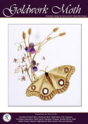 Goldwork Moth - Rajmahal Sadi Metal Thread and Art Silk Kit