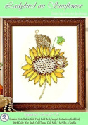 Ladybird on Sunflower - Rajmahal Sadi Metal Thread and Art Silk Kit