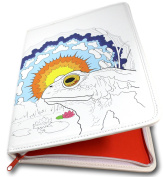 Colouring Book Folio (Toad's Epiphany) - Organises and Protects Two Adult Colouring Books and 24 Coloured Pencils - Two Pockets for Crafting Tools - Only from Colorolio®