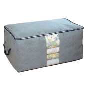 Prettysell Quilt Cloth Blanket Fabric Storage Organiser Bag Transparent Window Bamboo Charcoal Box