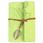 TAIYAL Loose Leaf Notebook PU Leather Cover and Art Creative Gift