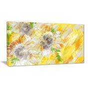 Digital Art PT3418-40-20 Yellow and Green Flower Art Floral Canvas Art