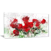 Digital Art PT3408-40-20 Bed of Roses Floral Canvas Art