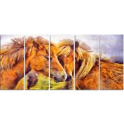 Digital Art PT2440-401 Loving Horses Animal Canvas Art