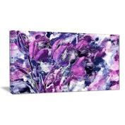 Digital Art PT3431-40-20 Shades of Purple Flowers Floral Canvas Art