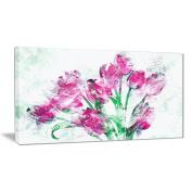 Digital Art PT3402-40-20 Pink Tulips Floral Canvas Art