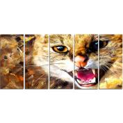 Digital Art PT2335-401 Hissing Cat Large Animal Canvas Art