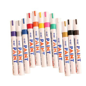 Overfeel 12 Colours Waterproof Metal Glass Fine Paint Oil Based Art Marker Pen