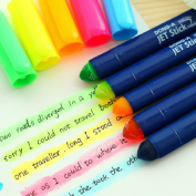 WuKong Candy Colour Solid Fluorescent Jelly Marker Pen Set of 5