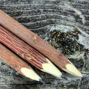 Handmade, fair-trade, eco-friendly Branch & Twig Graphite Pencils, 3 Pack, Approximately 18cm Long
