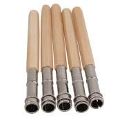 5pcs Odd Head Art Pencil Lengthening Lengthener Pencil Extender Holder Adjustable Dual Head Art Writing Hobby Tool Colour Random