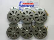 6 Mechanical Fisher's Yo Yo Fishing Reels -Package of 1/2 Dozen- Yoyo Fish Trap -