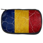 Distressed Romanian Flag Travel Bag