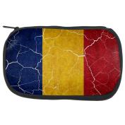 Distressed Romanian Flag Travel Bag
