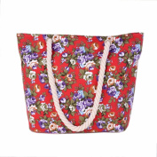 GBSELL Women Casual Canvas Patterned Shoulder Satchel Bag Tote Bag