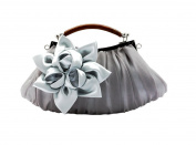 Genda 2Archer Embellish Sheer Chiffon Exterior Big Floral Party Clutch Evening Handbag