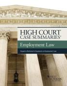 High Court Case Summaries on Employment Law, Keyed to Rothstein